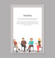 training poster with people at business meeting vector image vector image
