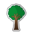 tree plant silhouette isolated icon vector image vector image