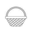 wicker basket icon vector image vector image
