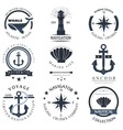 Set of sea and nautical decorations vector image