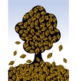 Tree leaf fall vector image