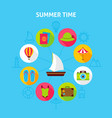 concept summer time vector image