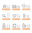 universal software icon set web part vector image
