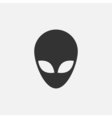 Alien head icon vector image