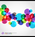 abstract colorful circles with light glowing on vector image