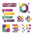 Abstract infographics isolated element set vector image vector image
