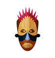 african god mask isolated on white background vector image vector image