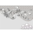background with a scattering of pearls vector image vector image
