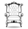 baroque armchair french luxury rich vector image vector image