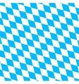 Bavarian Oktoberfest flag symbol vector image