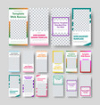 big set universal vertical white web banners vector image