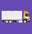 big truck with cargo vector image vector image