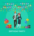 birthday party conceptual design vector image