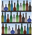bottles in bar vector image vector image