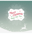 christmas card with deer silhouette vector image vector image