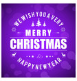 christmas card with purple background vector image
