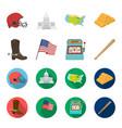 cowboy boots national flag slot machine vector image vector image