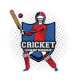 cricket player icon vector image vector image
