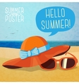 cute summer poster - hat and sun glasses