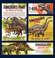 dinosaur jurassic dino monster animals vector image vector image