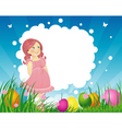 Easter background vector | Price: 3 Credits (USD $3)