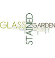 enhance the beauty of your garden with stained vector image vector image