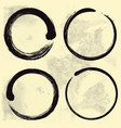 Enso zen set on old paper background