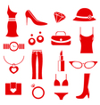 female clothes icons vector image