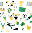 female soccer football player game match seamless vector image