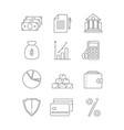 finance icons business and bank economy payment vector image vector image