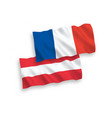 flags of france and austria on a white background vector image