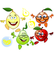funny cartoon characters fruit vector image vector image
