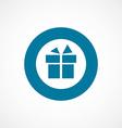 gift bold blue border circle icon vector image vector image
