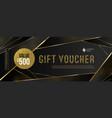 gift voucher template with golden elements vector image vector image