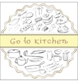 go to kitchen vector image vector image