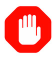 hand stop sign vector image