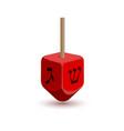 hanukkah dreidel icon vector image vector image