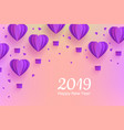 happy new 2019 year congratulation banner in vector image vector image