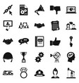 head icons set simple style vector image vector image