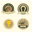 Horseback riding flat badges and labels vector image vector image