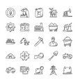 industrial doodle icons set vector image