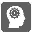 Intellect Flat Squared Icon vector image