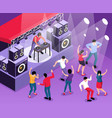 isometric dj set composition vector image vector image