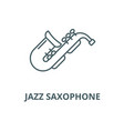 jazz saxophone line icon linear concept vector image vector image