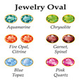 Jewelry Oval Isolated Objects vector image vector image