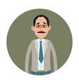 joyed businessman or clerk flat icon vector image vector image