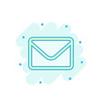 mail envelope icon in comic style receive email vector image vector image