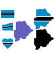 map Botswana vector image vector image