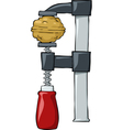 nut in clamp vector image vector image