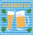 Oktoberfest beer festival poster vector image vector image